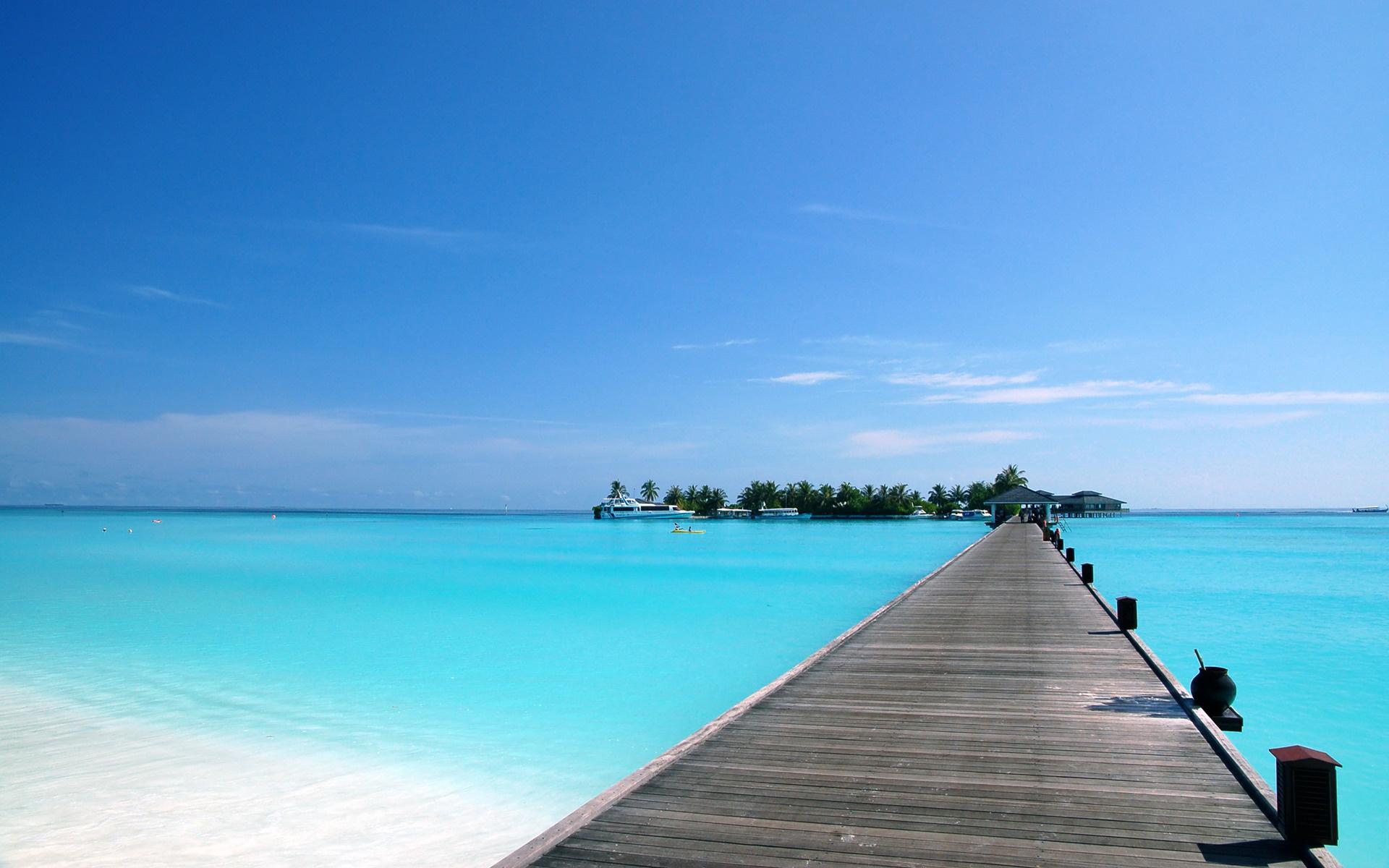лето, тропики, океан