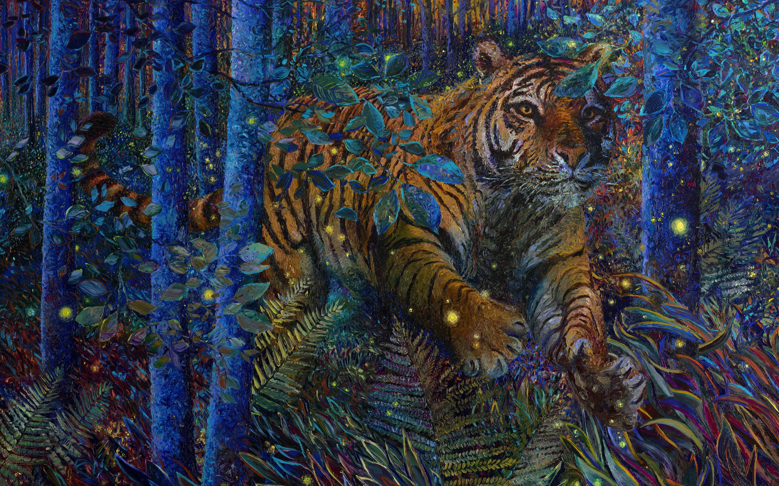 тигр, зверь, животные, текстуры