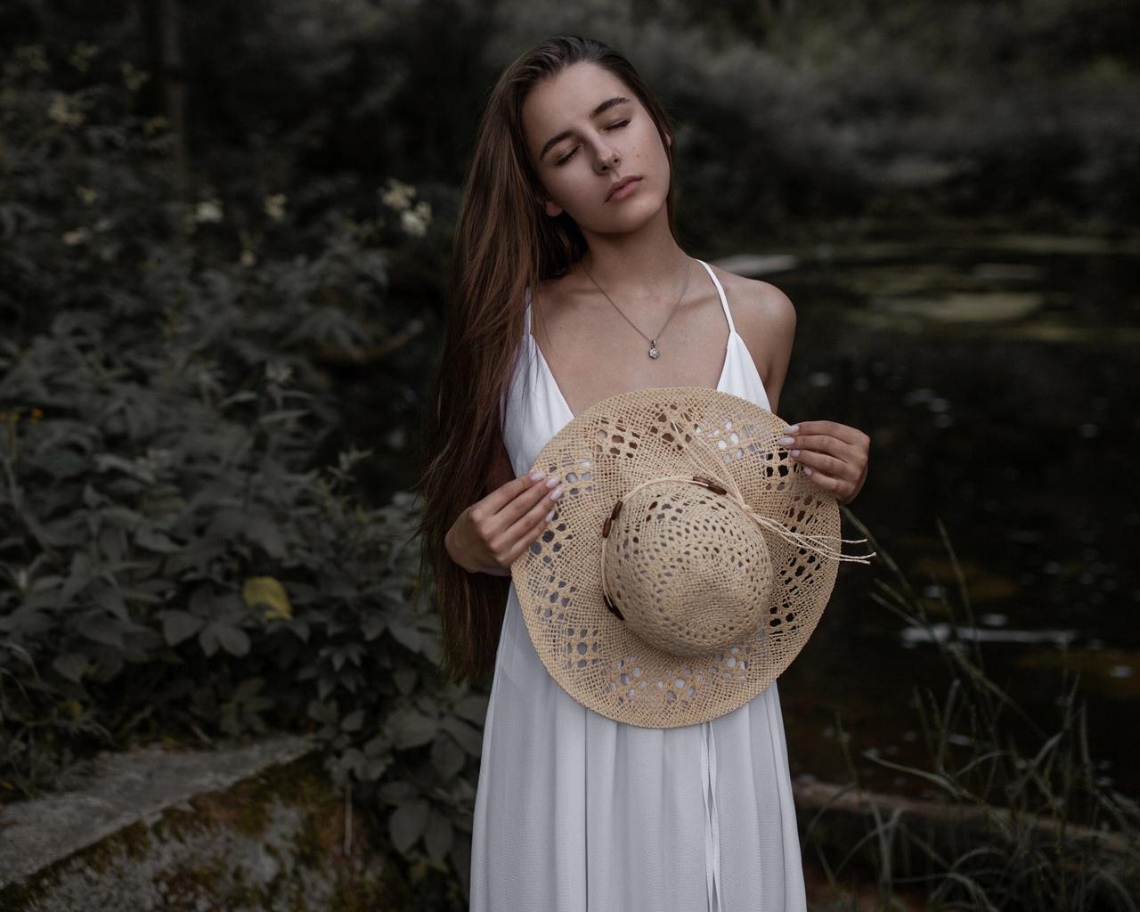 andrey frolov, проф фото, девушка, на природе, длинные волосы