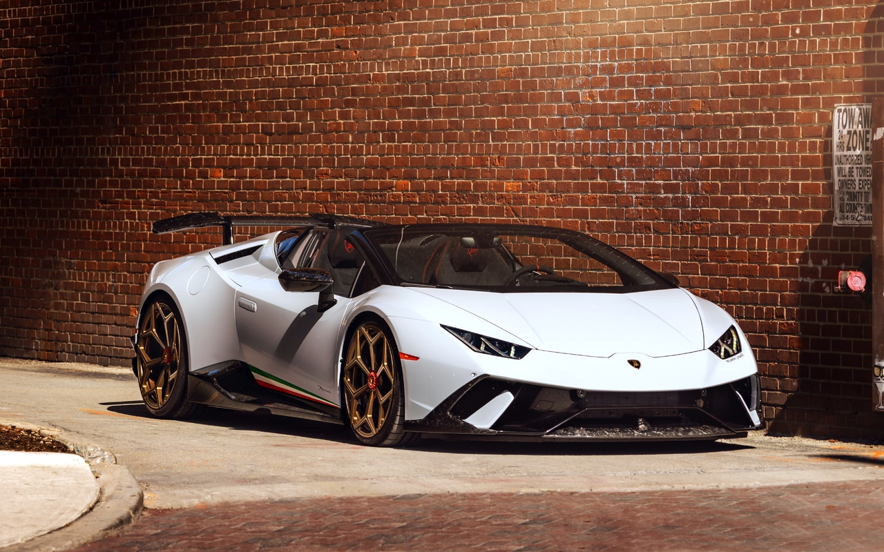 lamborgihini huracan, white, vossen wheels, custom design, supercars