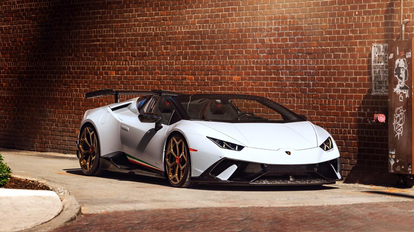lamborgihini huracan, white, vossen wheels, custom design, supercars