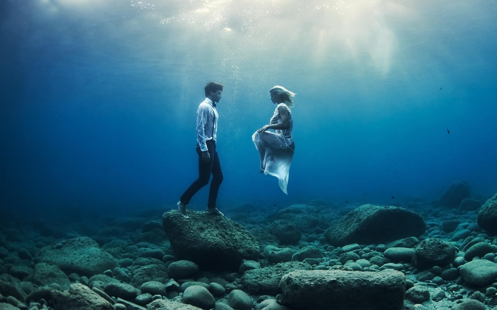 люди, под водой