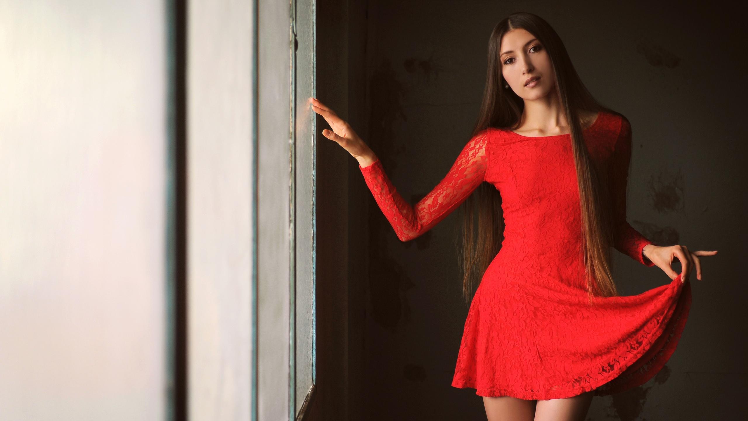 платье, красный, aleksandra yun