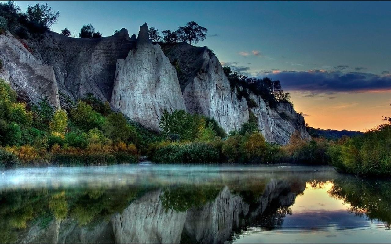 природа, отражение, озеро, пейзаж