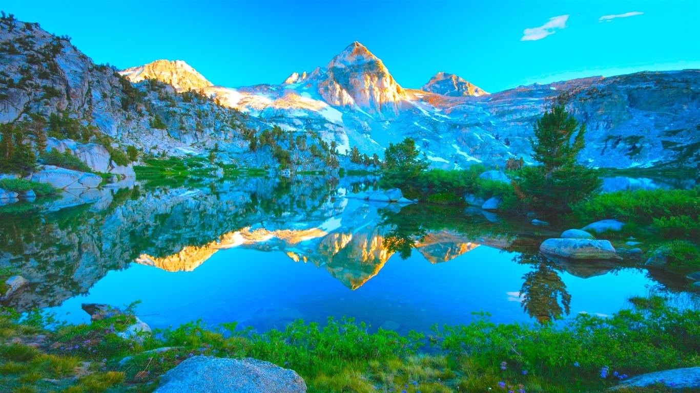 природа, пейзаж, горы, горный, гора, озеро, вода, небо, трава, деревья, дерево