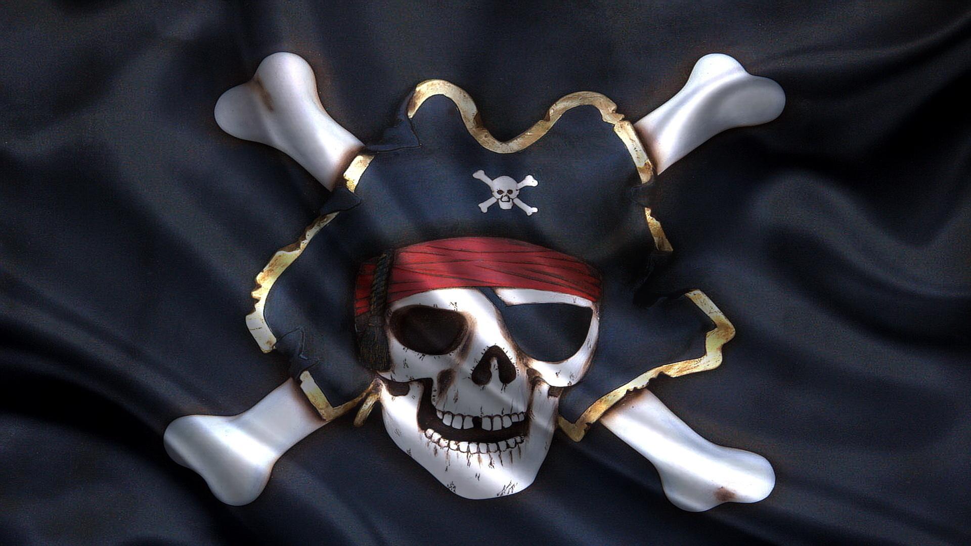 мужика фотообои пиратский флаг машину