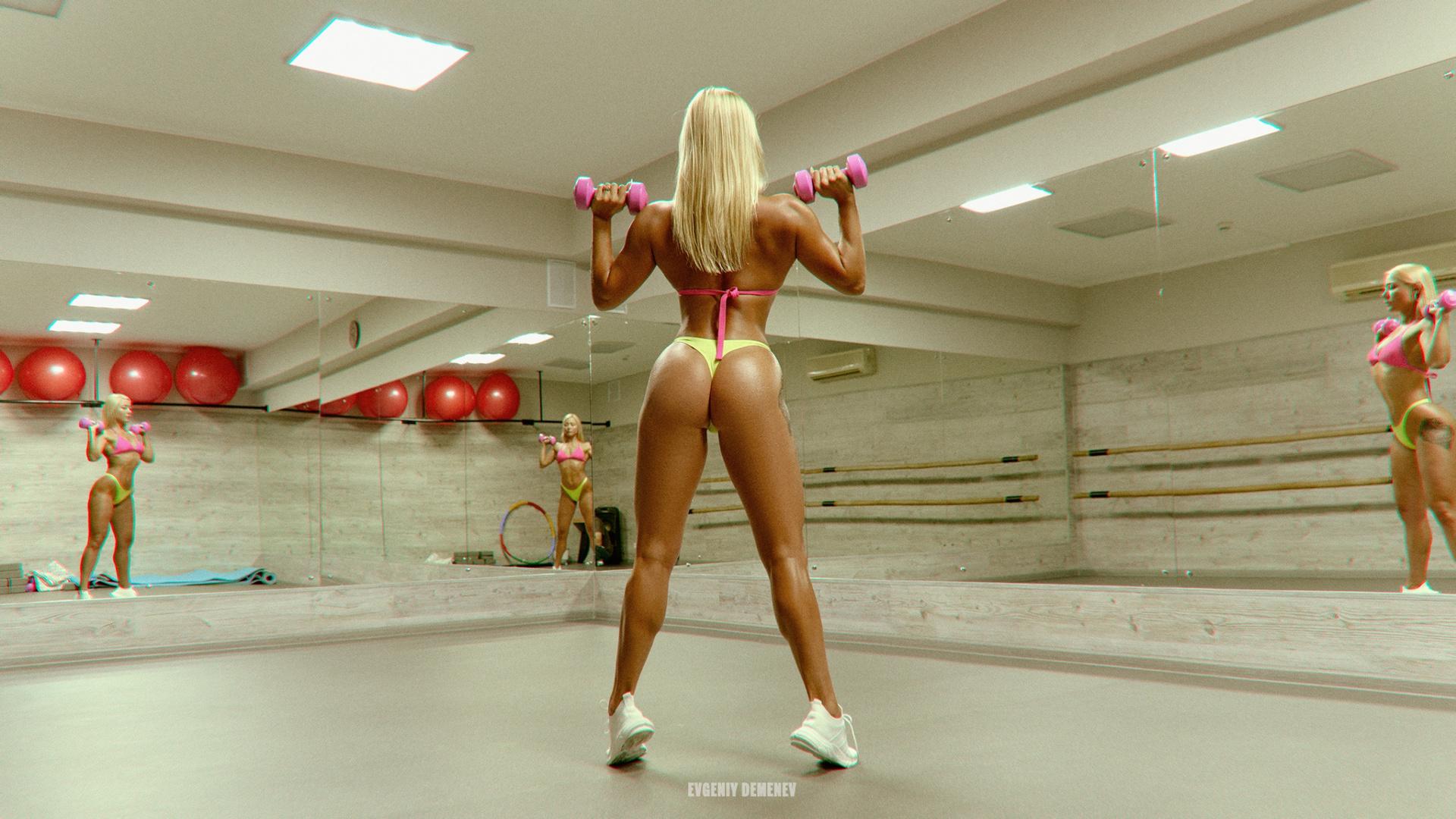 evgenyi demenev, спорт, девушка,вид,попка,секси,упражнения,зал