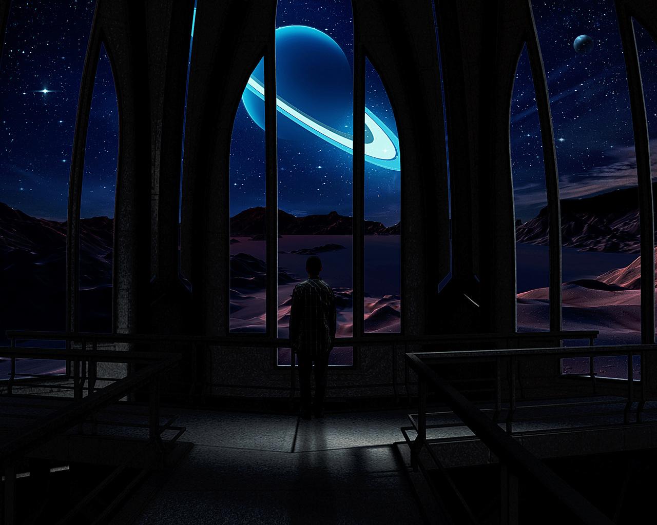 Человек, космос, вселенная, звезды