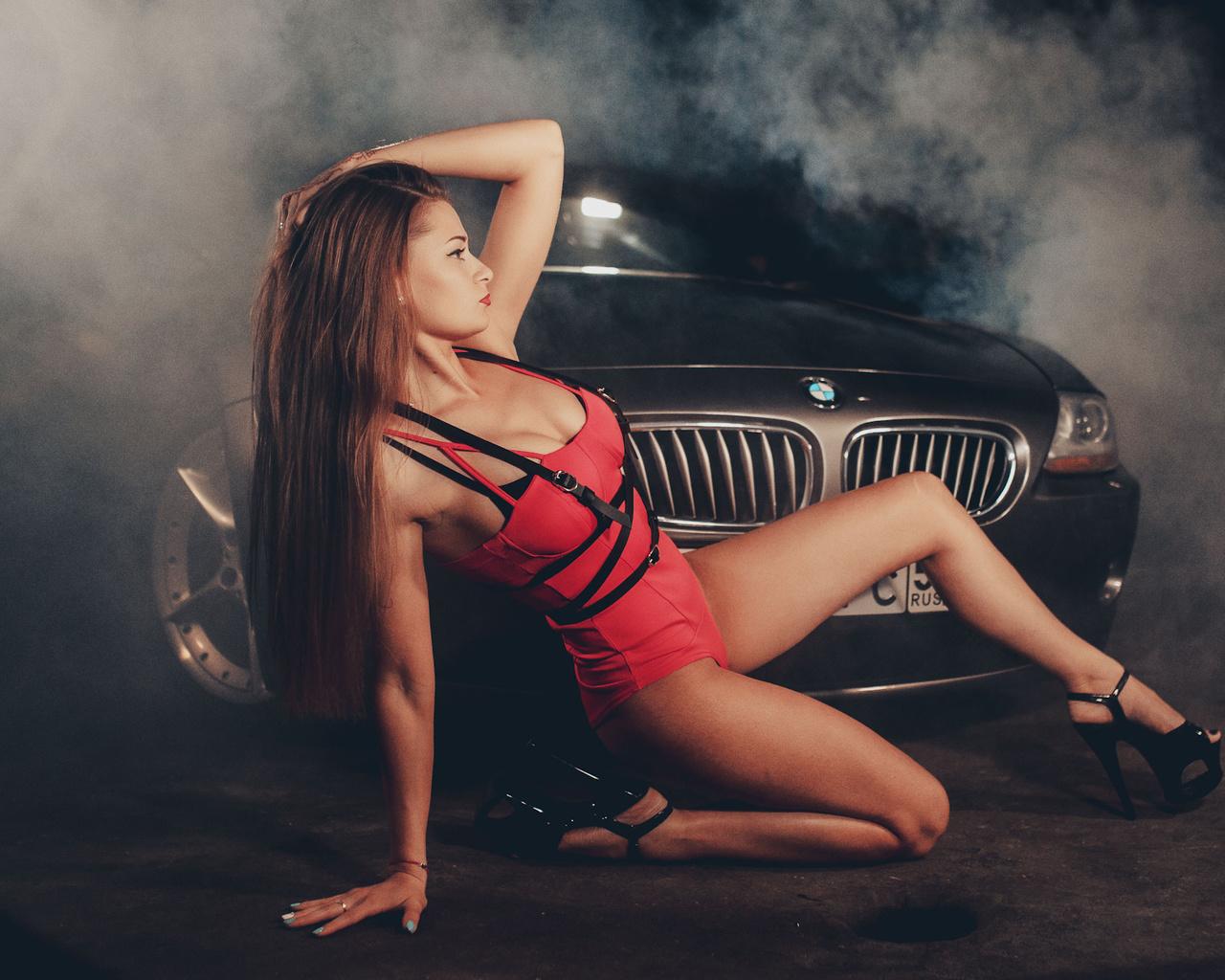 bmw, z4, roadsters, девушка, дым
