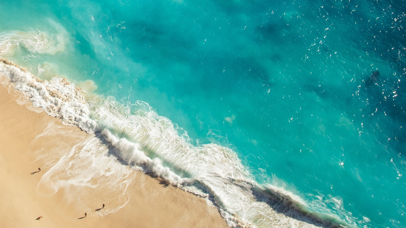 океан, волны, берег