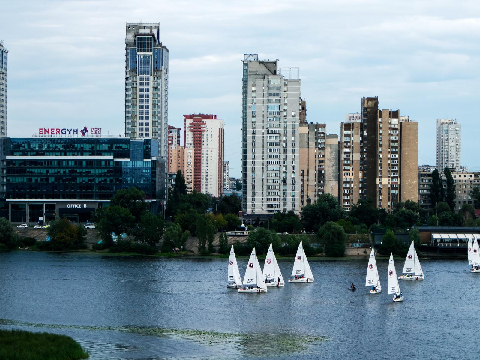 киев, город, река, днепр, отдых, пляж