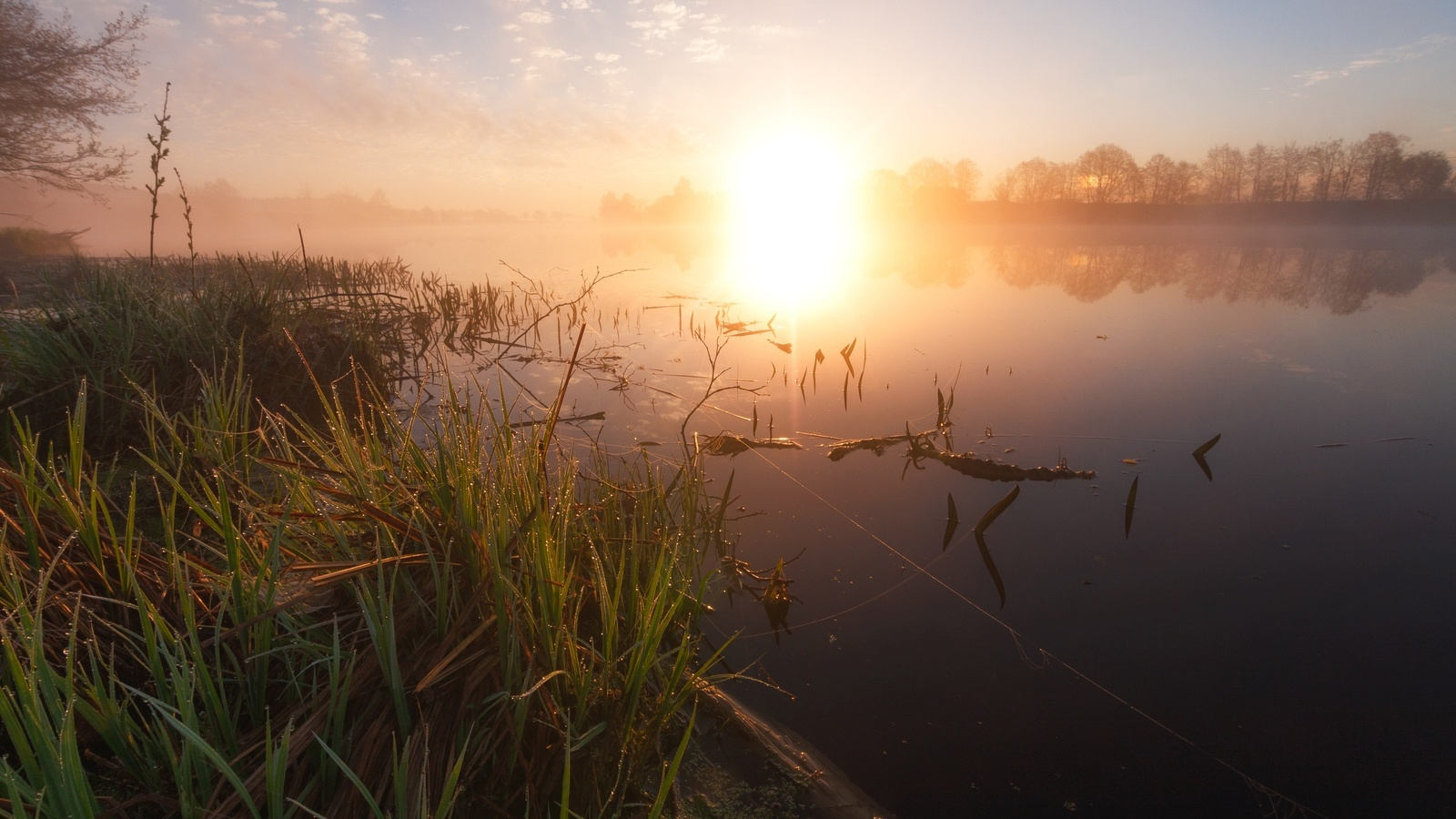лето, речка, рассвет, пейзаж, красиво, фотограф, андрей олонцев
