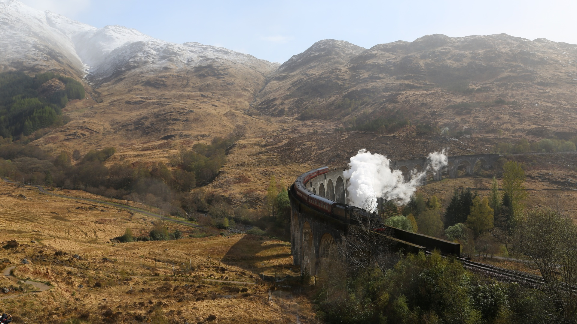 поезд, мост, железная дорога