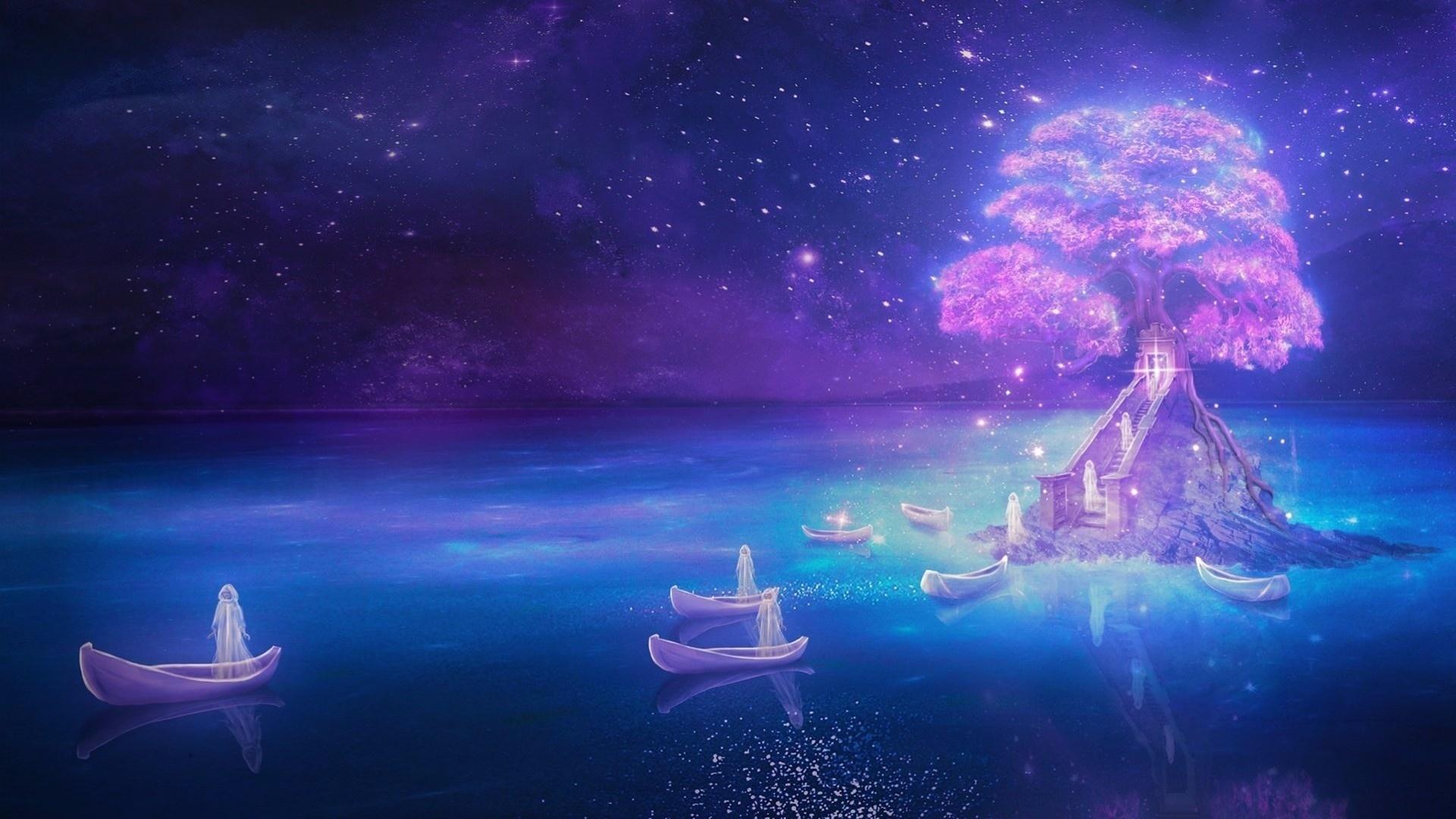 фантастика, мистика, девушка, загробный, мир, лодка, небытие, дух, душа, призрак, привидение