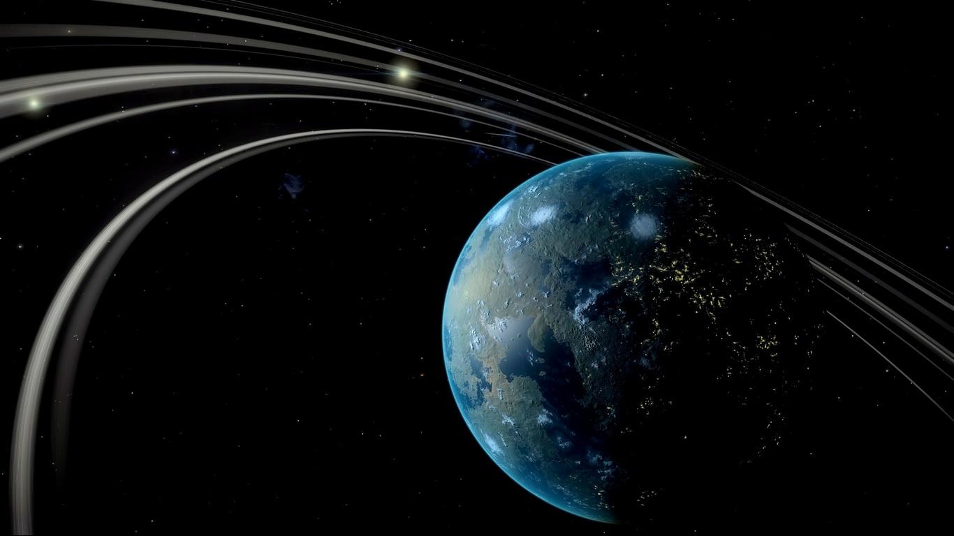 опасно, космос, планета, звезды