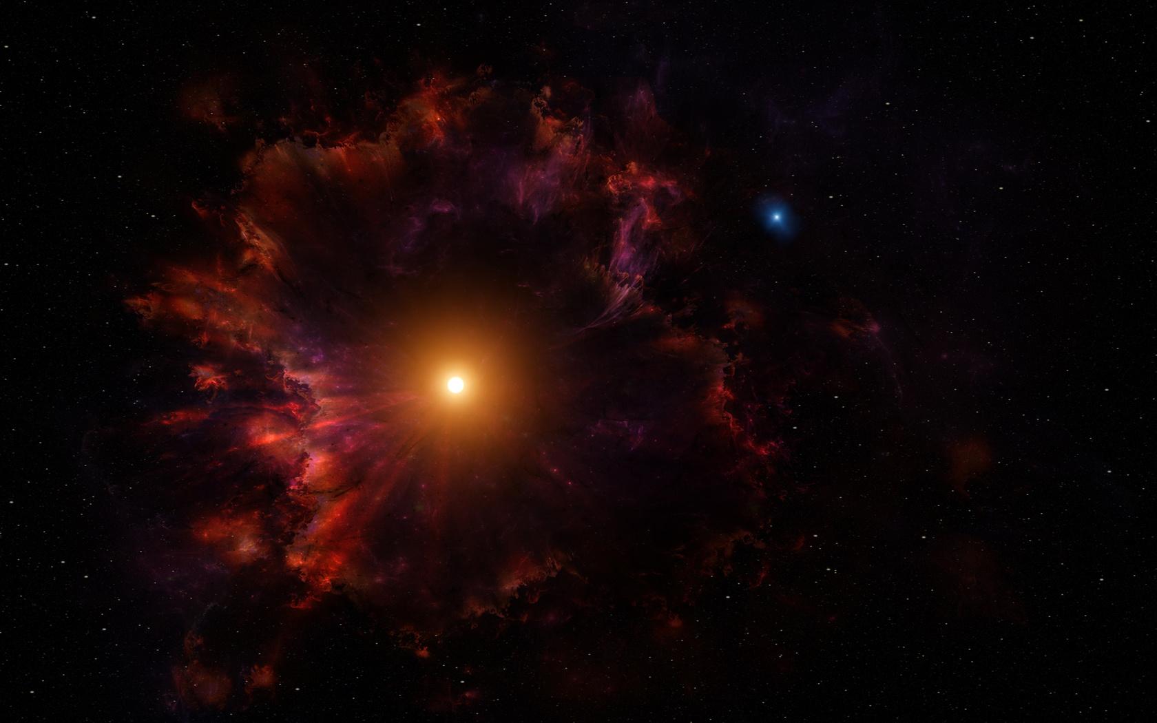 звезда, туманность, космос