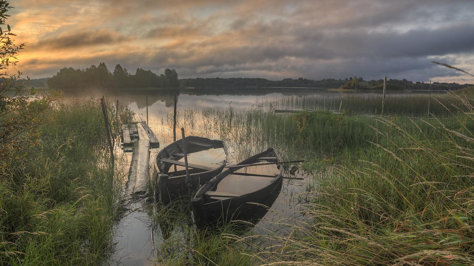 деревня, усть-река, республика карелия, пудожский р-он, закат