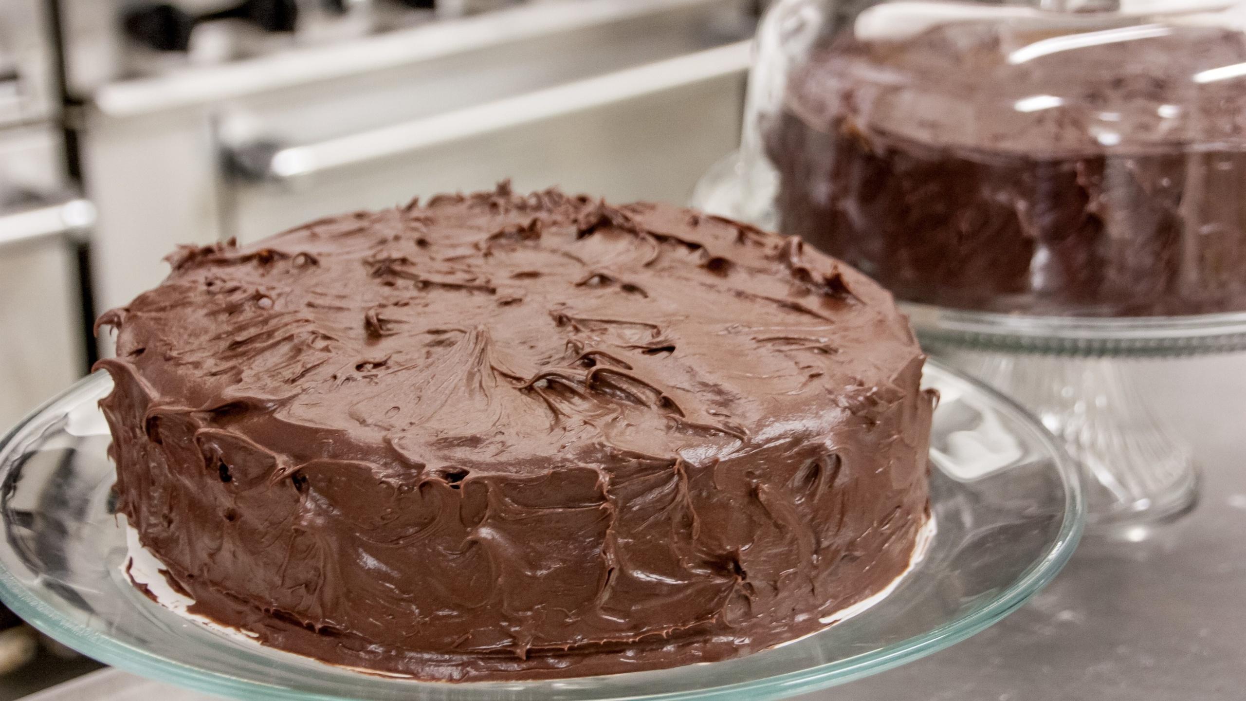 шоколадный, торт, подставка