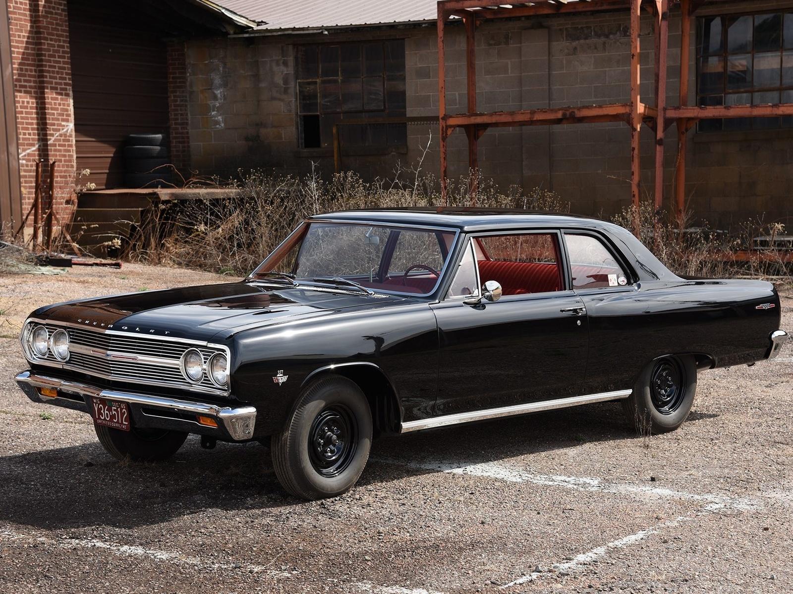 chevrolet, chevelle, 1965, парковка