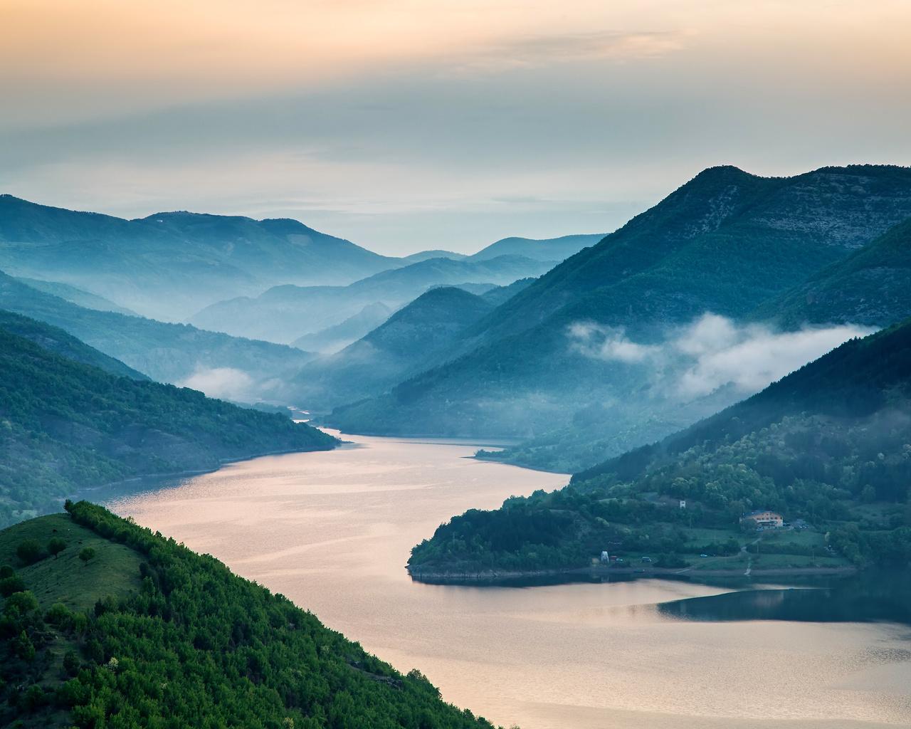 пейзаж, горы, природа