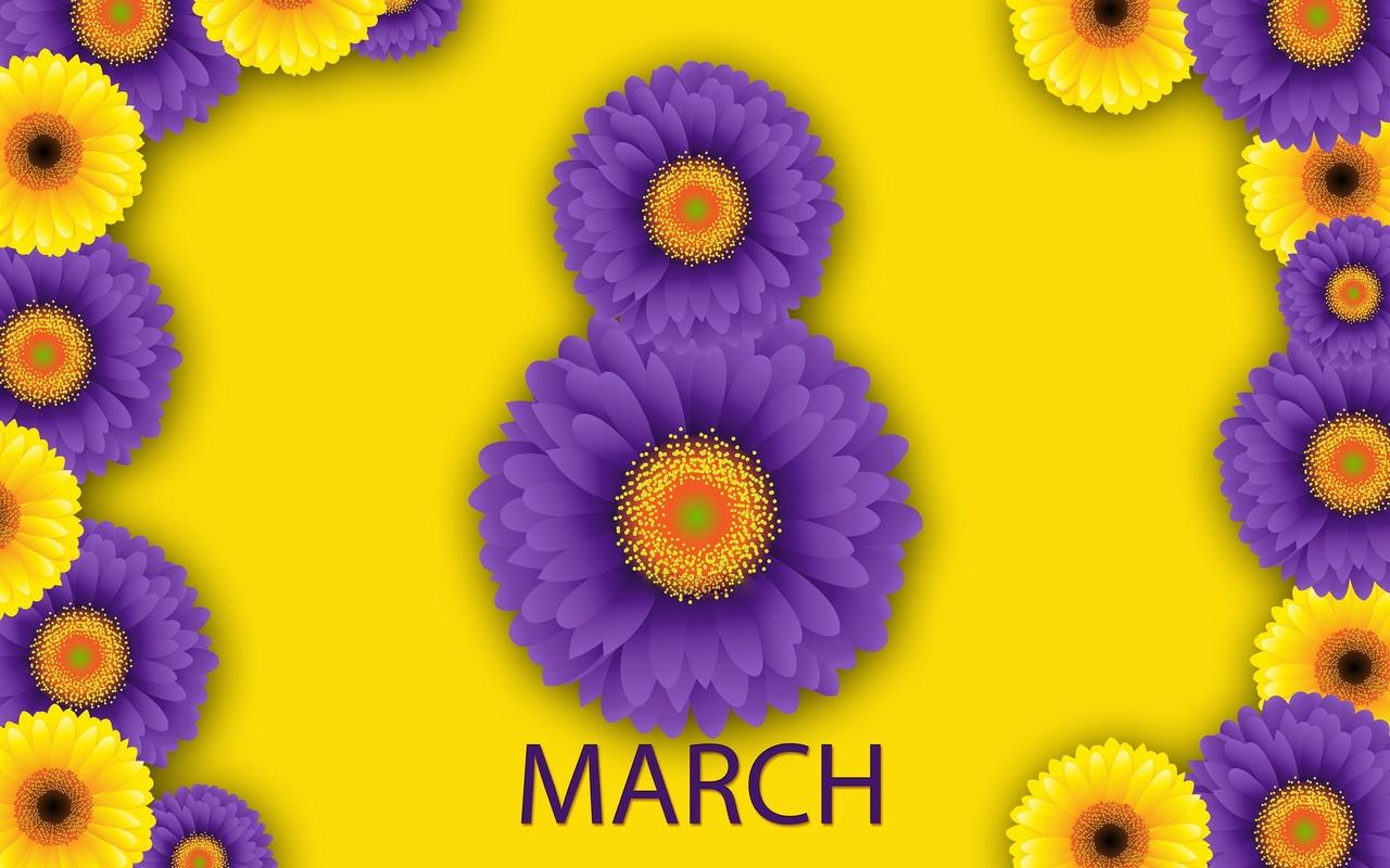 восьмерка, зелень, растения, 8 марта, фон