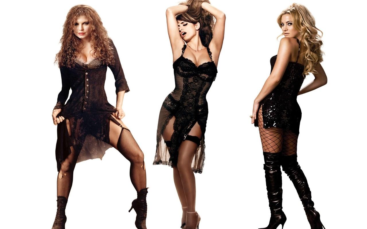 девушки, актрисы, трио, penelope cruz