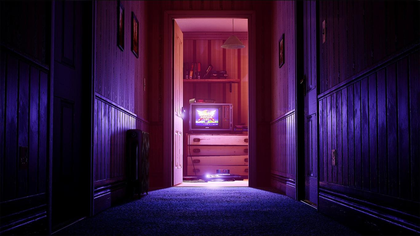 комната, ретро игры