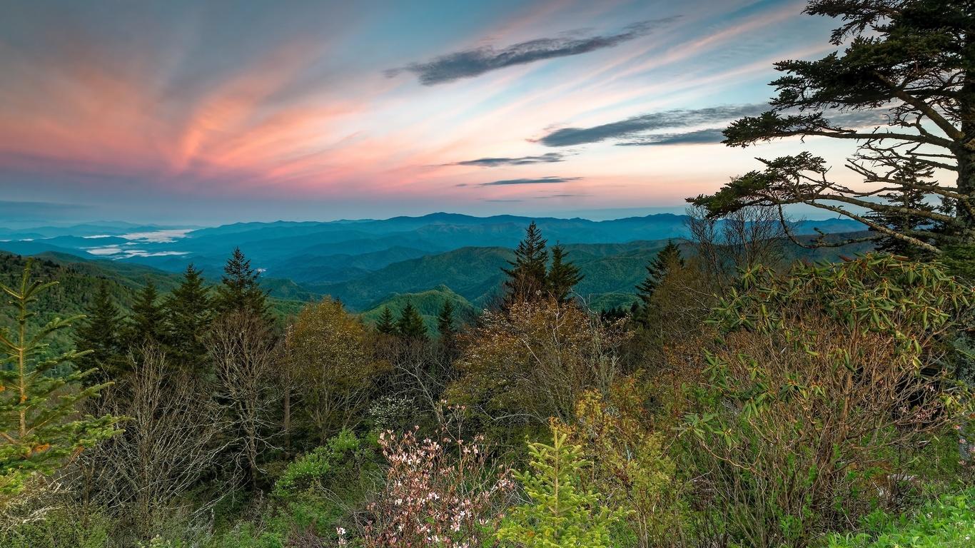 высота, холмы, зелень, горизонт