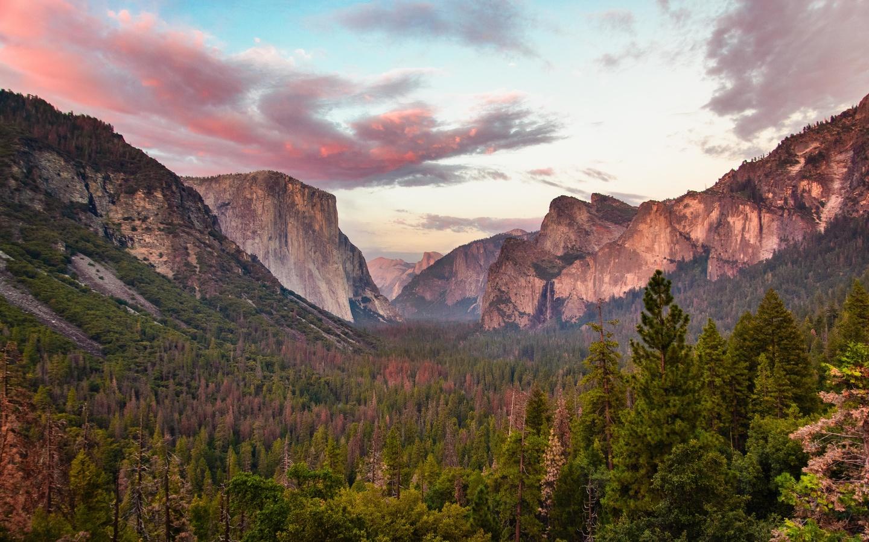 yosemite, national park, fall, rocks, stream