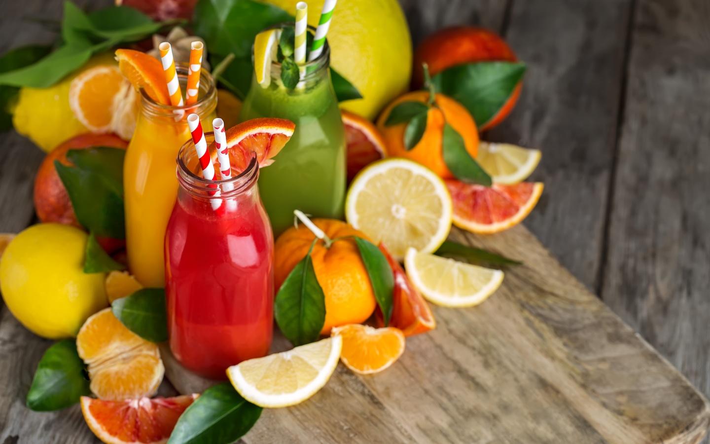 сок, фрукты