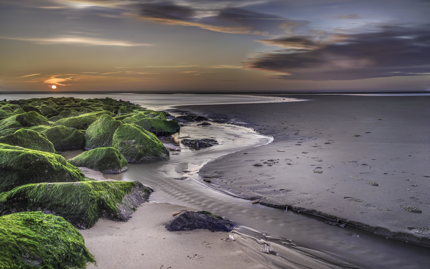 пейзаж, берег, горизонт, пляж