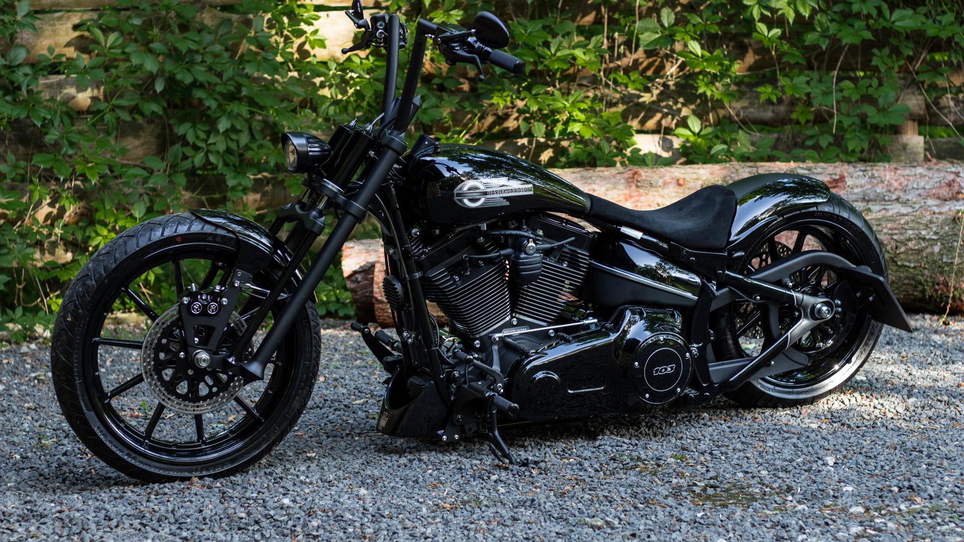 harley-davidson, btchoppers, черный, мотоцикл