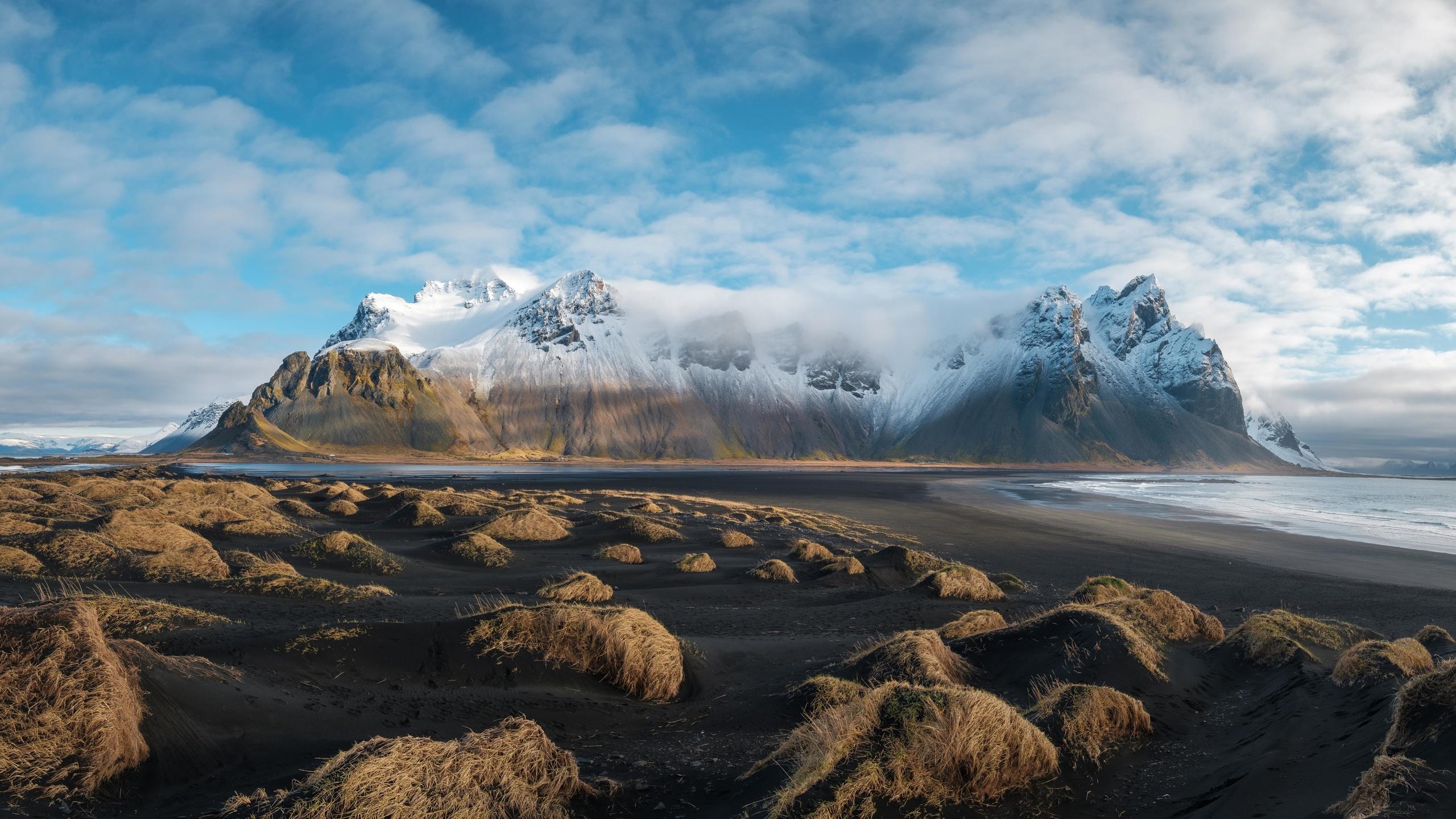 горы, рельеф, туман, пейзаж
