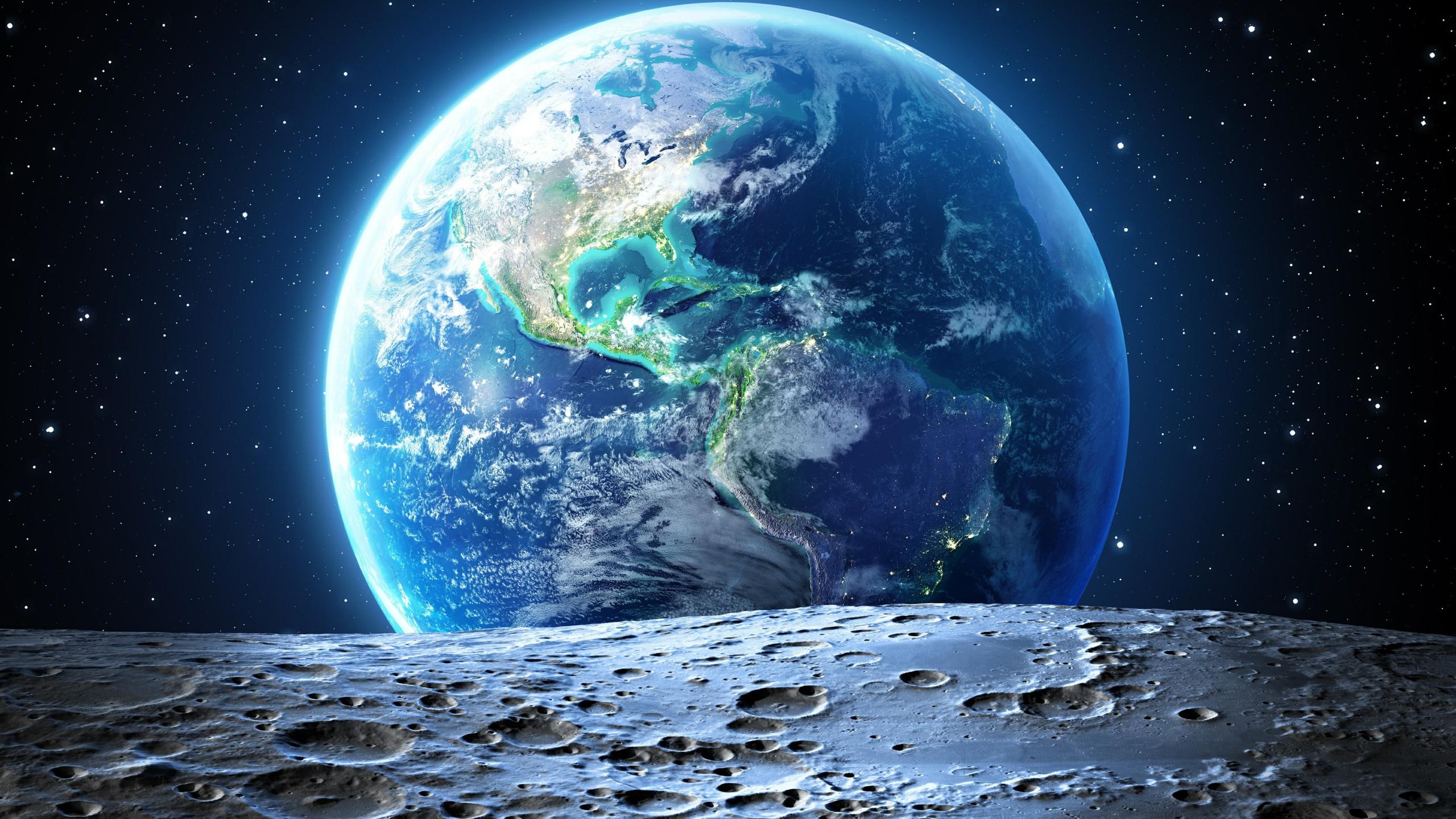 космос, луна, земля