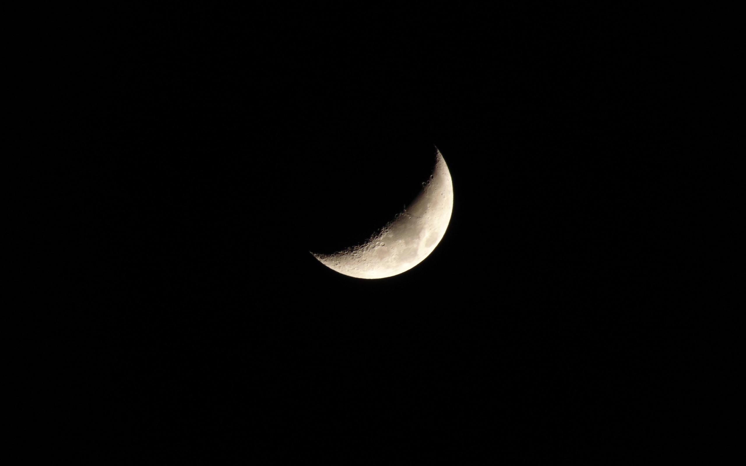 луна, месяц, ночь, черный
