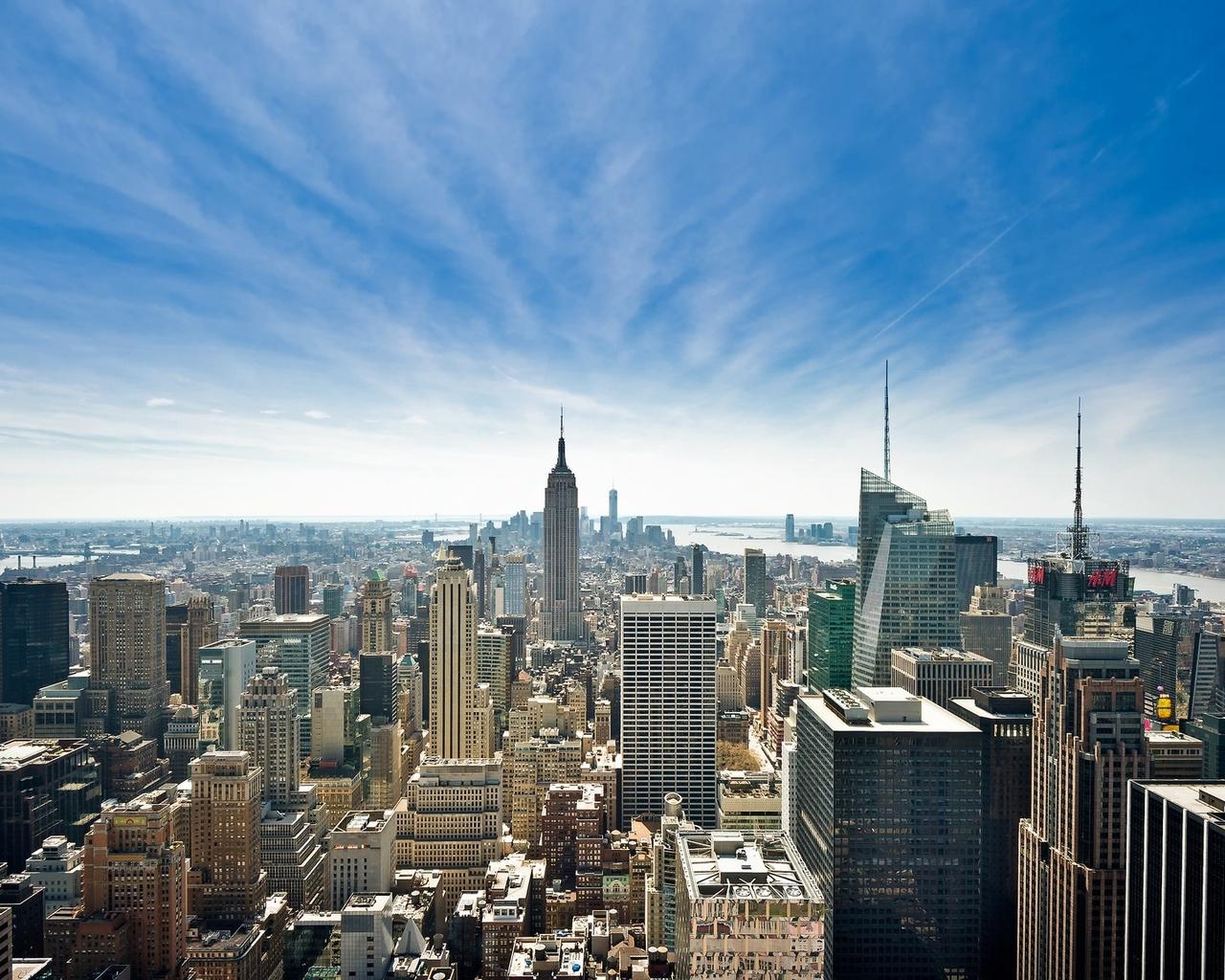 город, мегаполис, небоскрёбы, нью-йорк, сша
