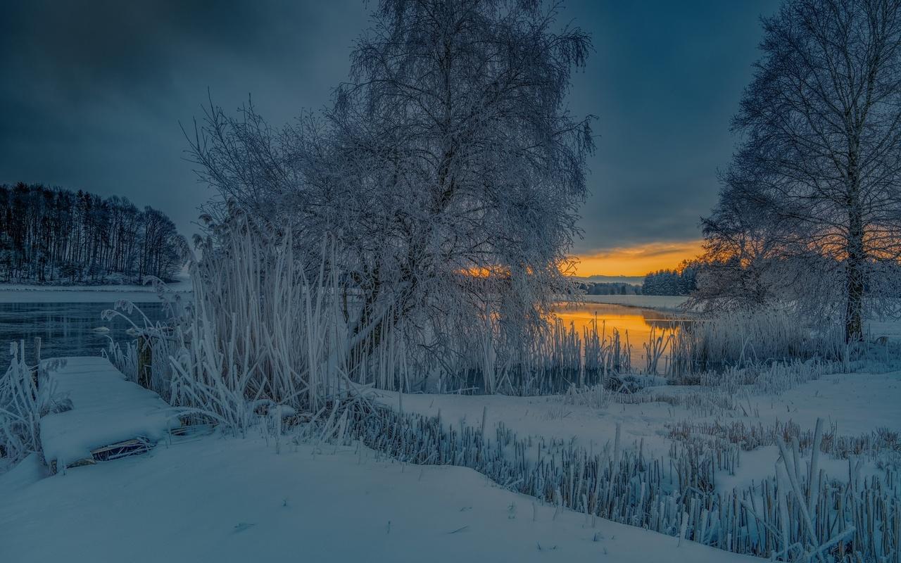 матташтрассе, германия, вечер, снег, зима