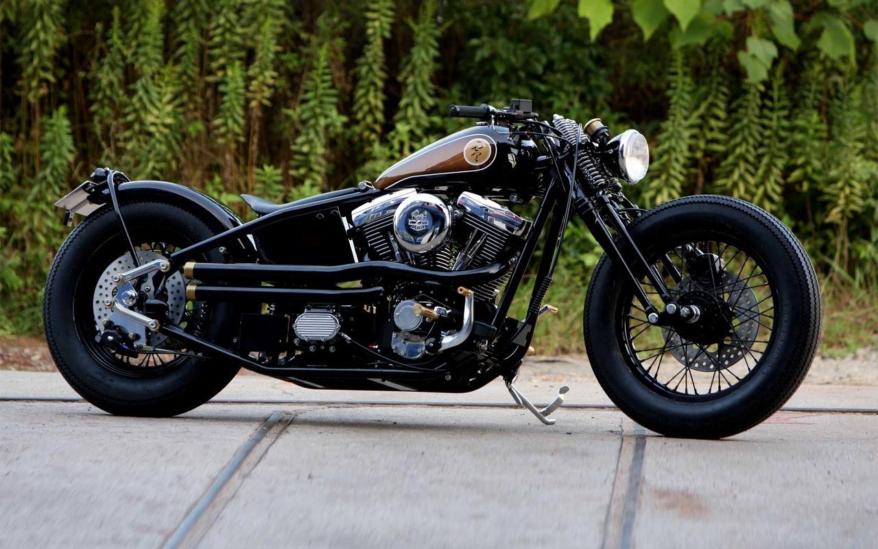 bike, harley-davidson, custom, bobber, мотоцикл,классика