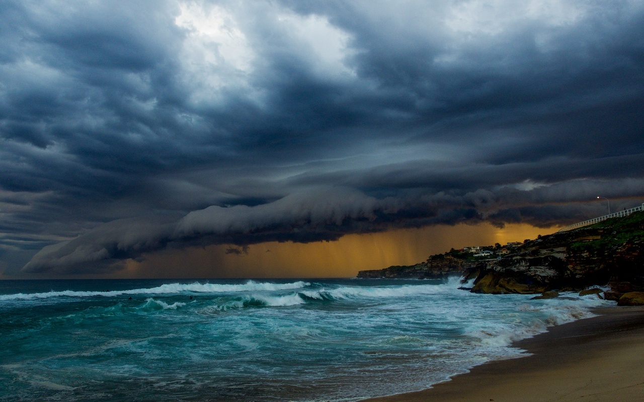 природа, циклон, небо, красиво