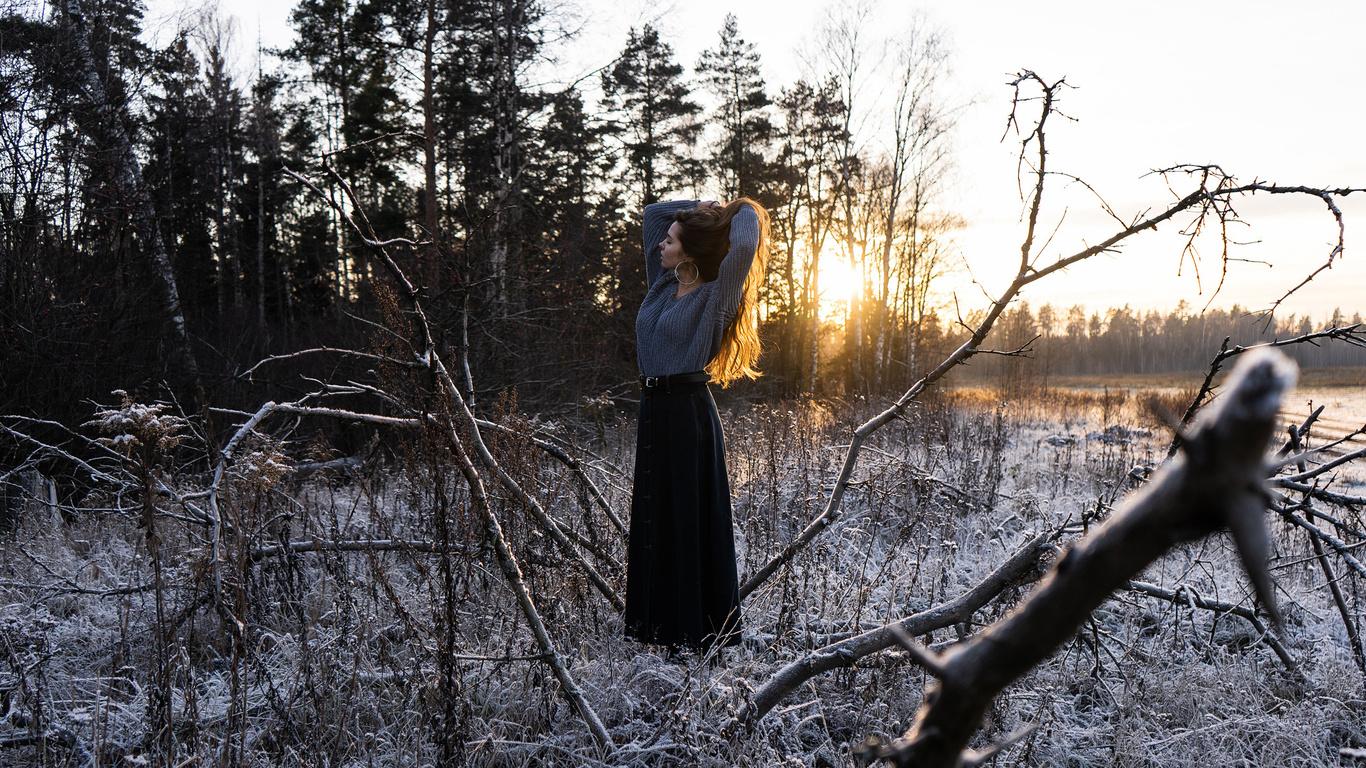 девушка, длинные волосы, зима, фотограф, pavel protsenko