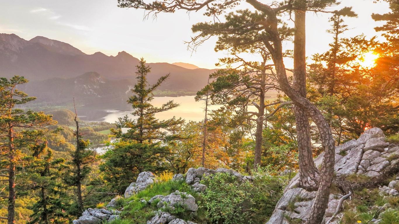 альпы, горы, пейзаж