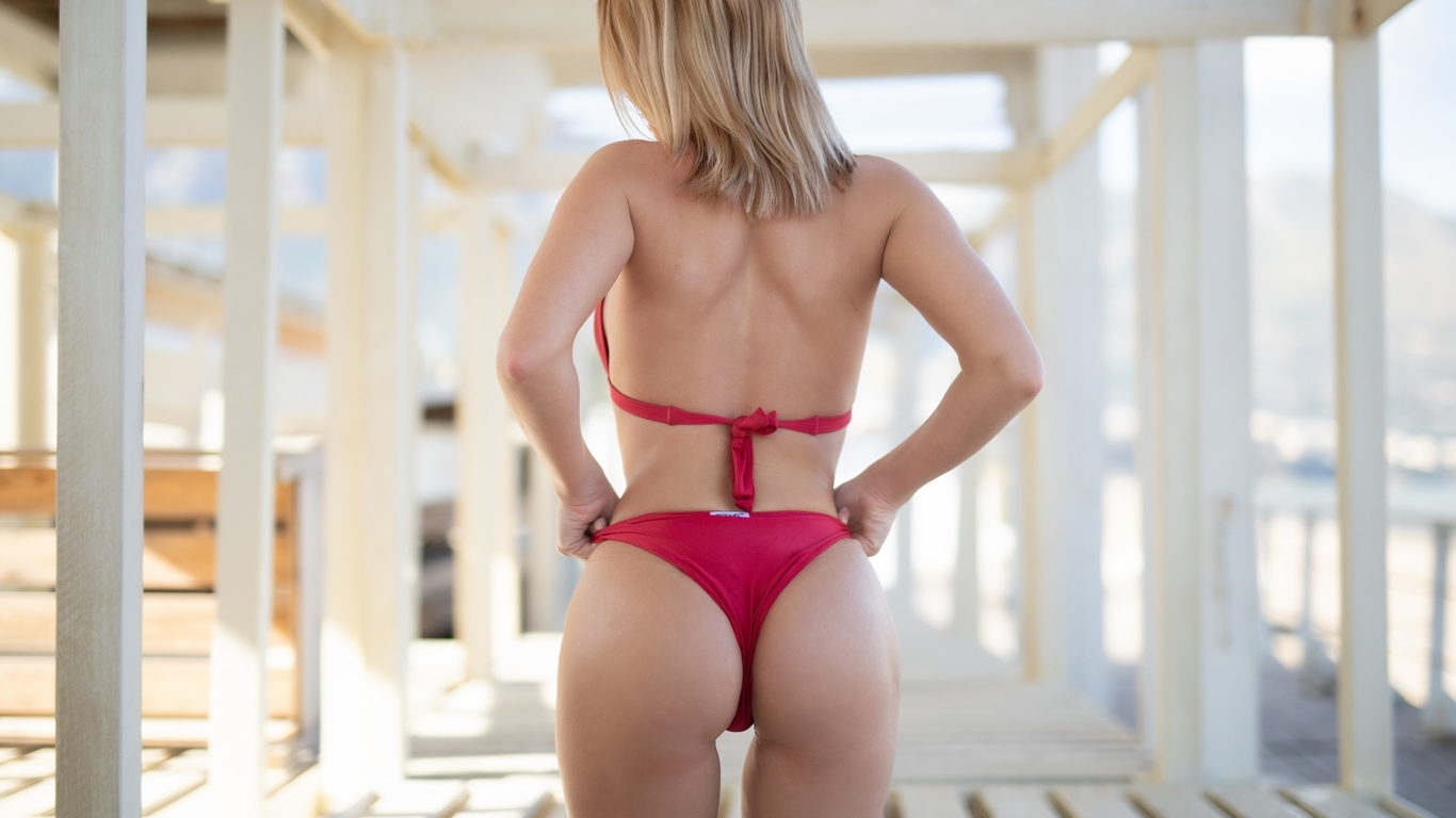 bikini, попа, babes, модель, ass, позирует, спина, фигура, купальник, грудь, спортивная