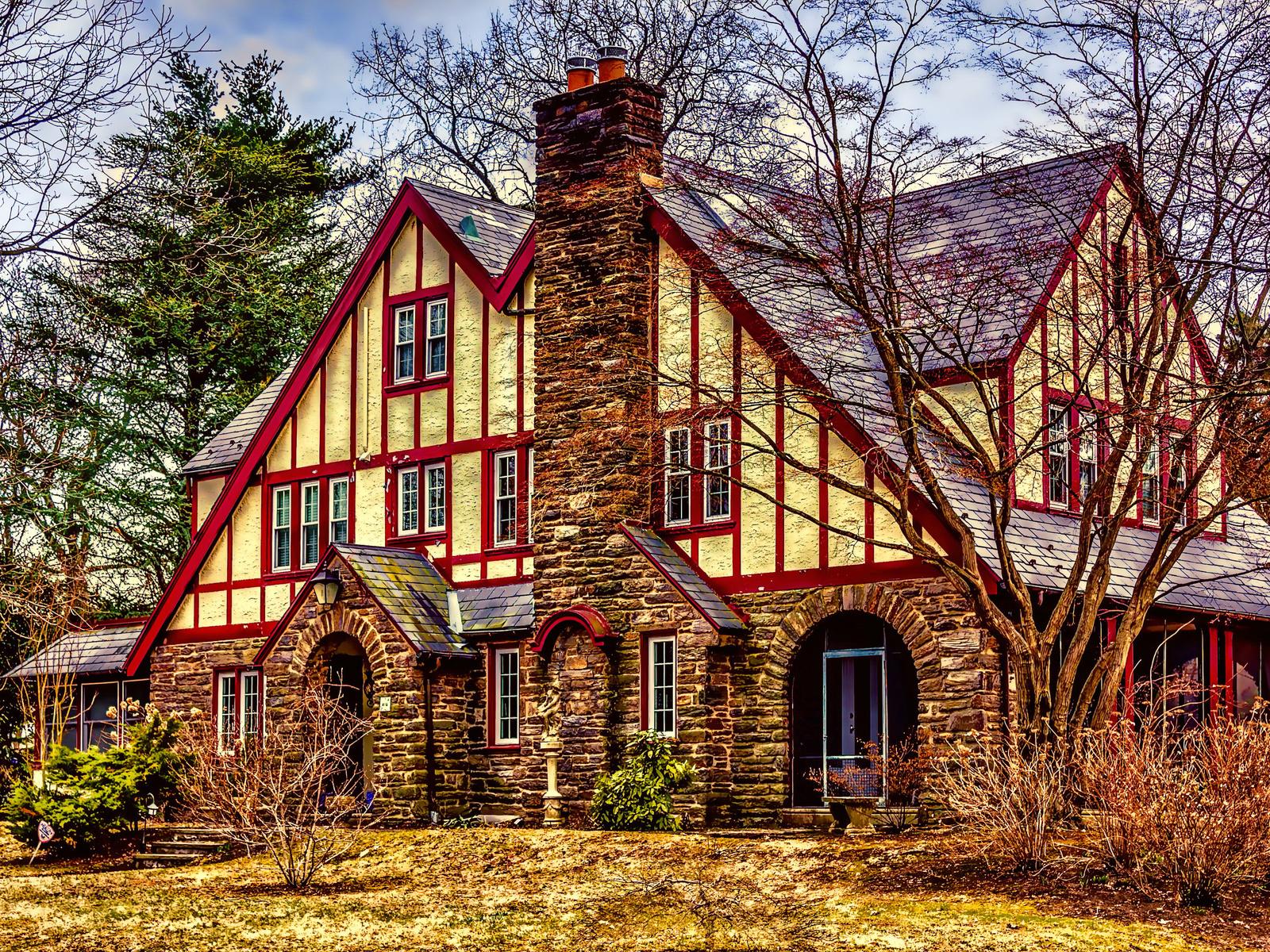 дом, особняк, фасад