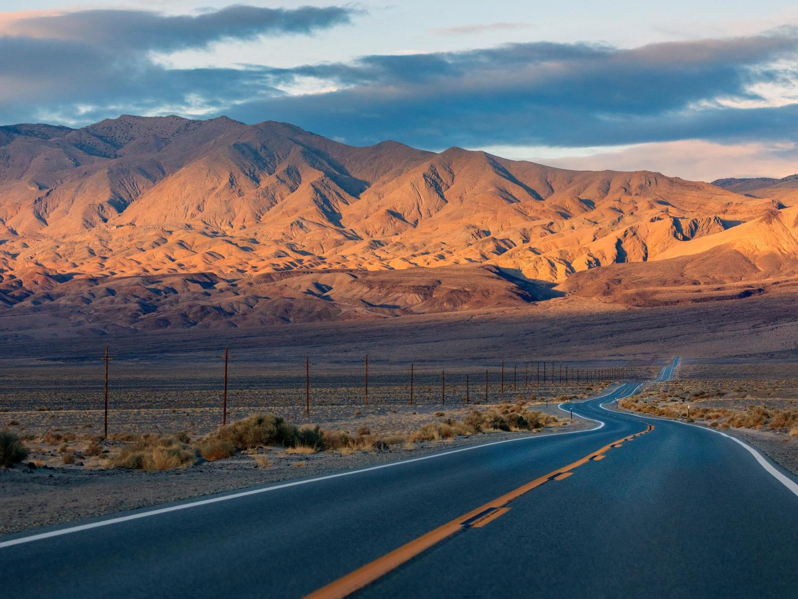дорога, горы, разметка