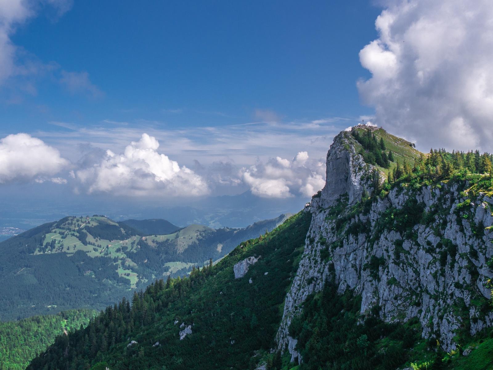 пейзаж, небо, облака, горы, бавария