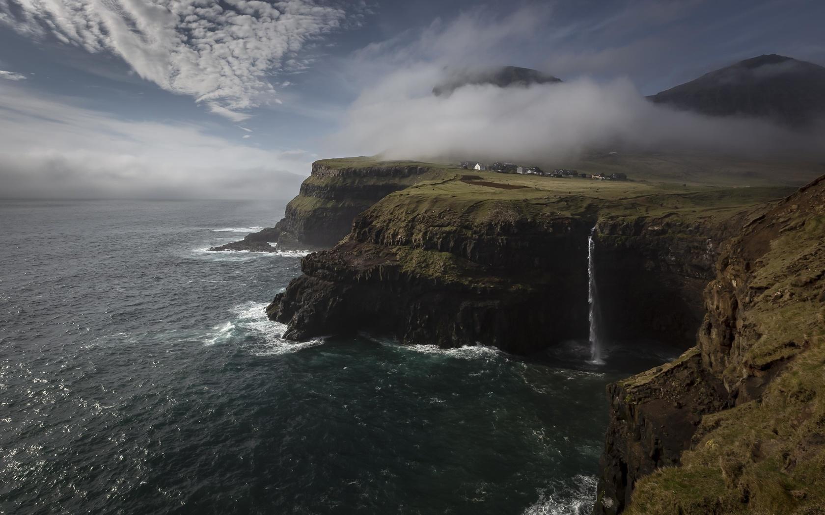 море, скалы, побережье, пейзаж