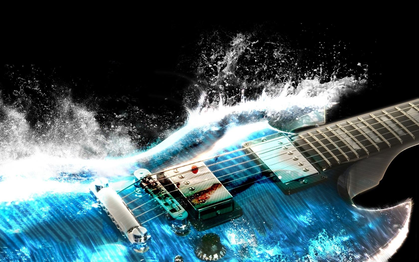 3d, музыка, синий