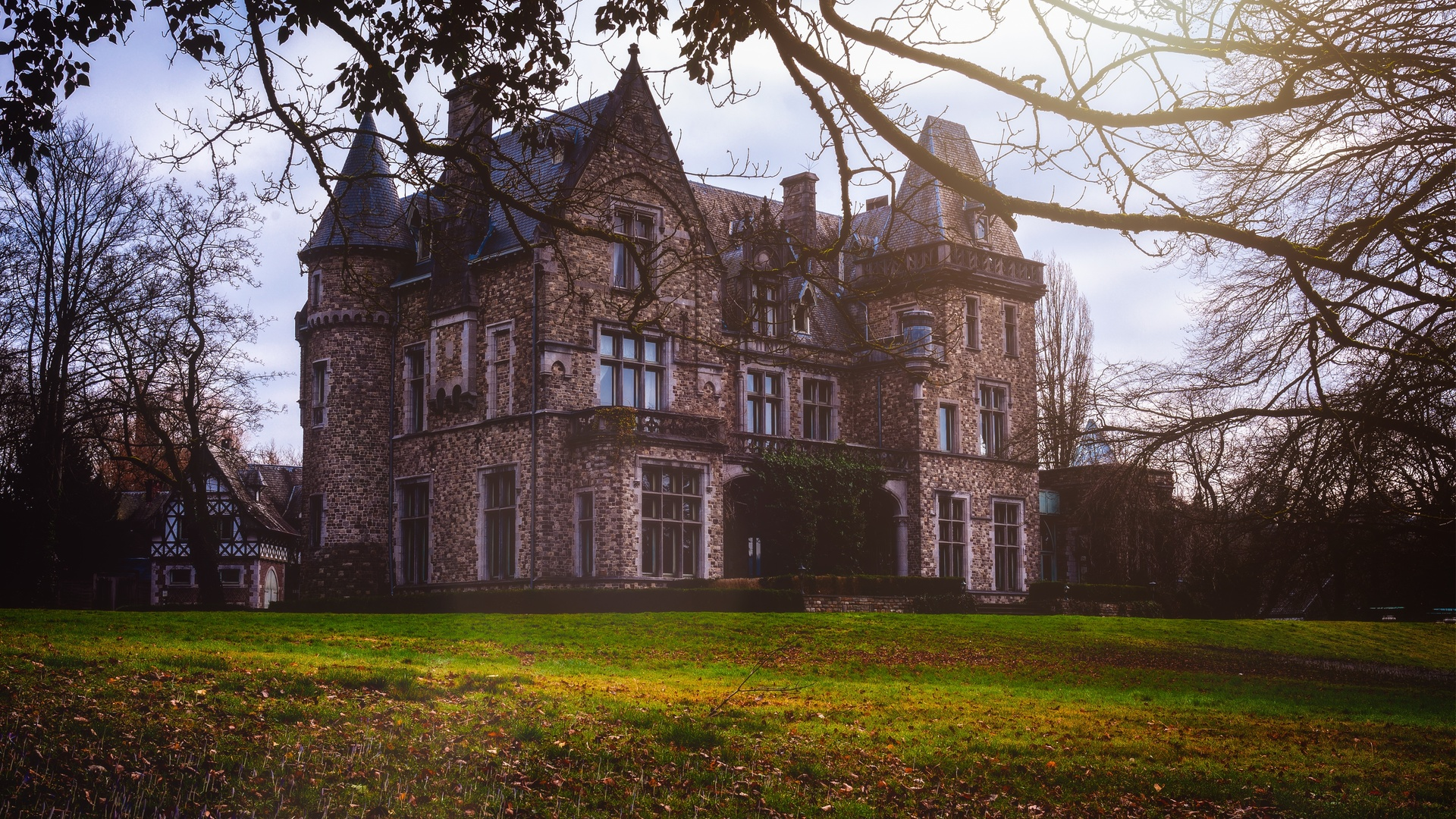замок, шато, архитектура, парк, исторически, старый