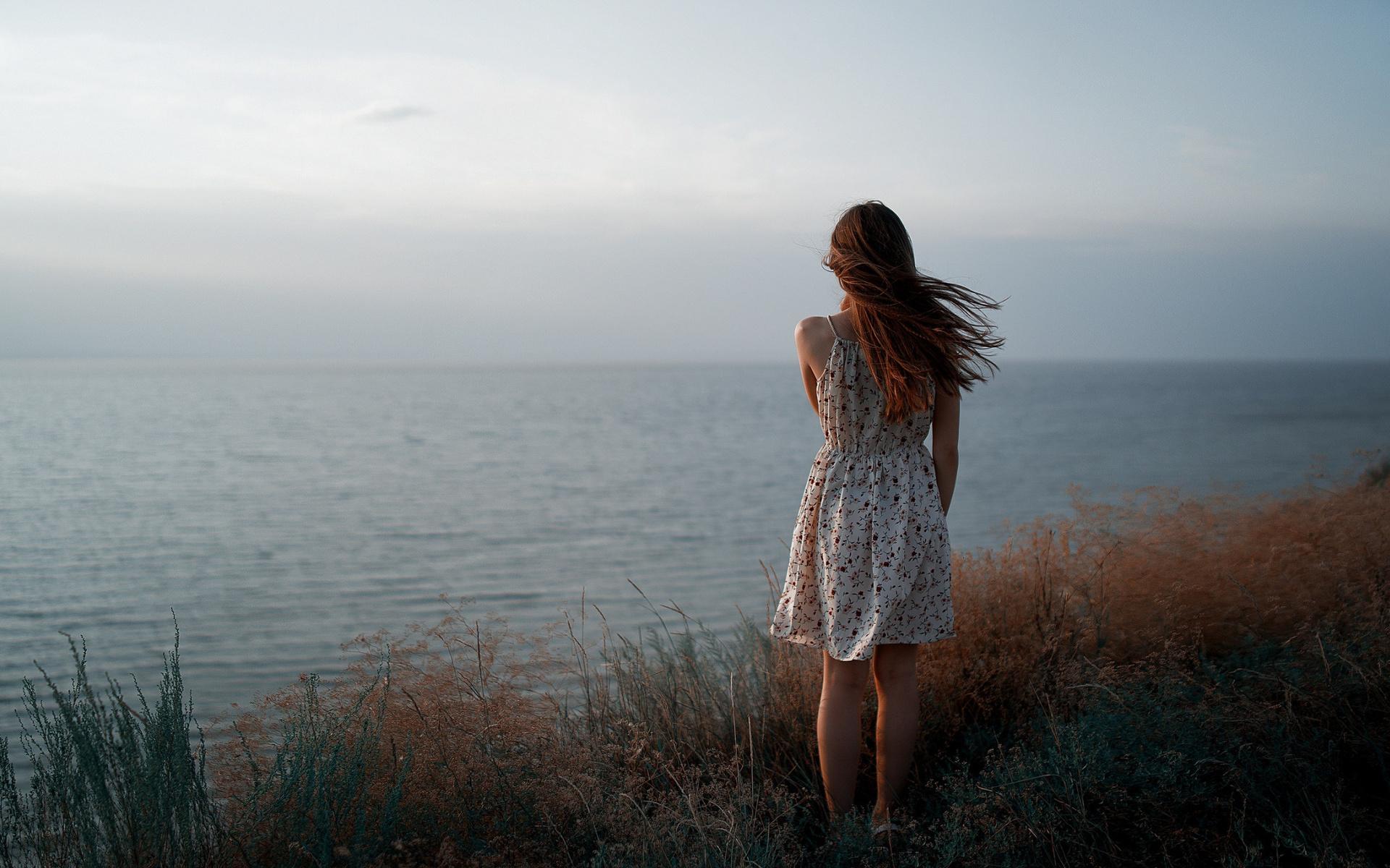 девушка, платье, ветер, антон фреймз