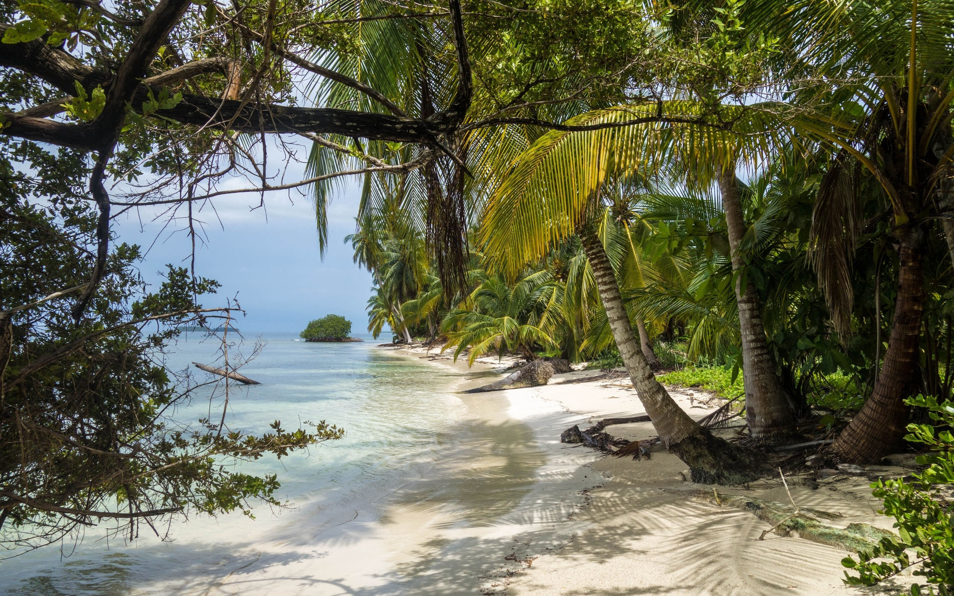панама, остров, карибский бассейн, пляж, море, рай